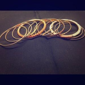 Set of bangle bracelets